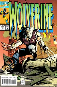Cover Thumbnail for Wolverine (Marvel, 1988 series) #77 [Direct Edition]