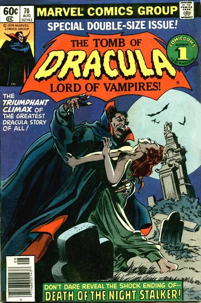 Cover for Tomb of Dracula (Marvel, 1972 series) #70