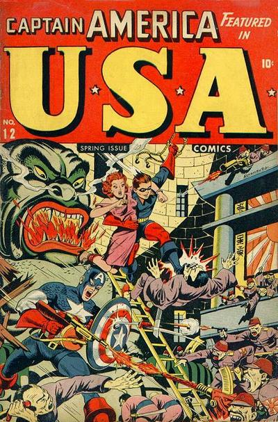 Cover for USA Comics (1941 series) #12