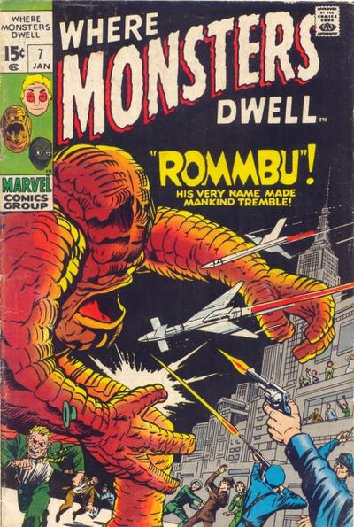 Cover for Where Monsters Dwell (Marvel, 1970 series) #7