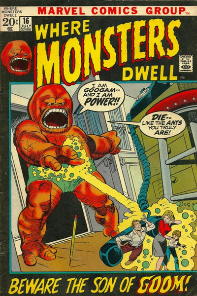 Cover for Where Monsters Dwell (Marvel, 1970 series) #16