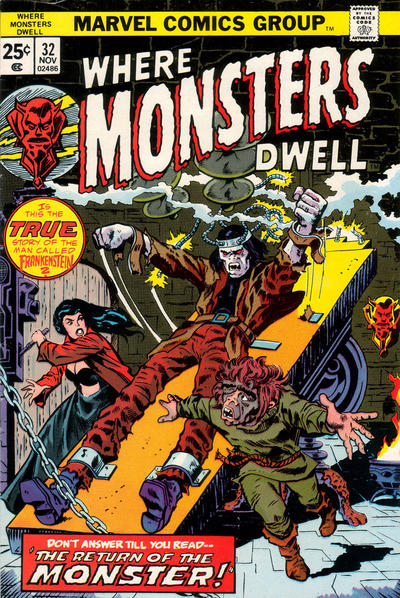 Cover for Where Monsters Dwell (Marvel, 1970 series) #32
