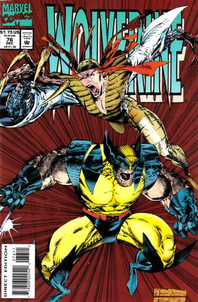 Cover for Wolverine (1988 series) #76 [Direct Edition]