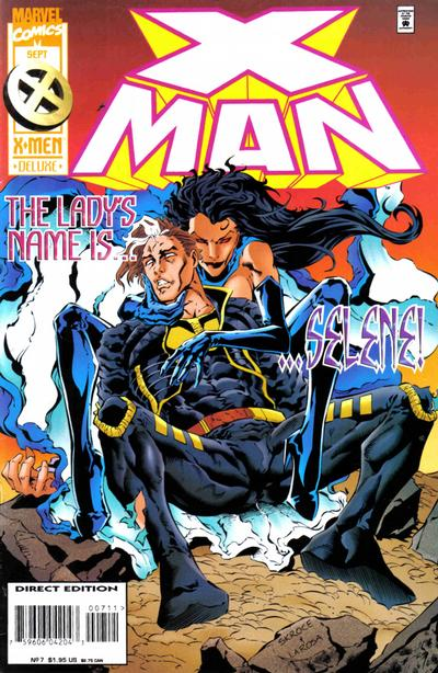 Cover for X-Man (Marvel, 1995 series) #7 [Direct Edition]