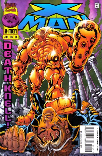 Cover for X-Man (Marvel, 1995 series) #16 [Direct Edition]