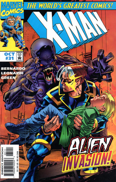 Cover for X-Man (Marvel, 1995 series) #31 [Direct Edition]