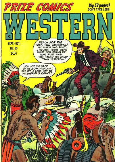 Cover for Prize Comics Western (Prize, 1948 series) #v9#4 (83)