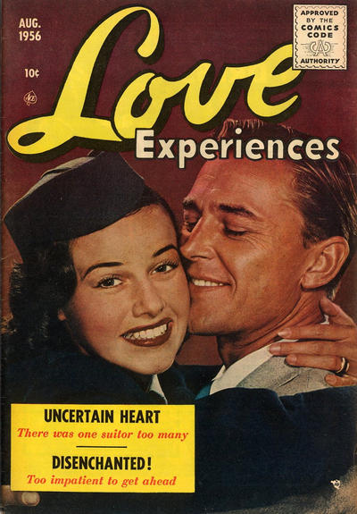 Cover for Love Experiences (Ace Magazines, 1951 series) #38 [August]