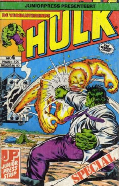 Cover for De verbijsterende Hulk Special (JuniorPress, 1983 series) #4