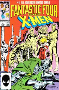 Cover Thumbnail for Fantastic Four vs. X-Men (Marvel, 1987 series) #4 [Direct Edition]