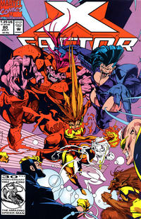 Cover for X-Factor (Marvel, 1986 series) #80 [Direct Edition]