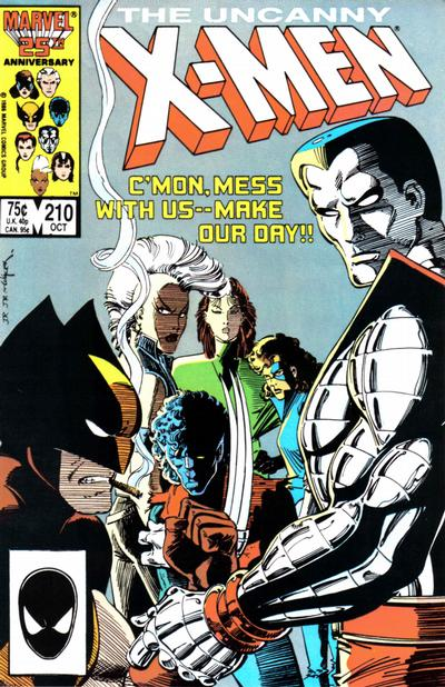 Cover for The Uncanny X-Men (1981 series) #210 [Direct Edition]
