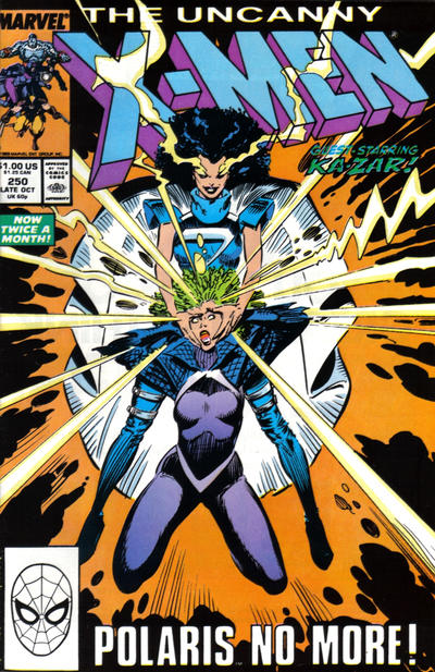 Cover for The Uncanny X-Men (Marvel, 1981 series) #250