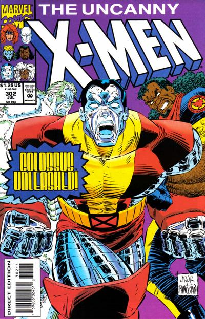 Cover for The Uncanny X-Men (Marvel, 1981 series) #302 [Newsstand Edition ]