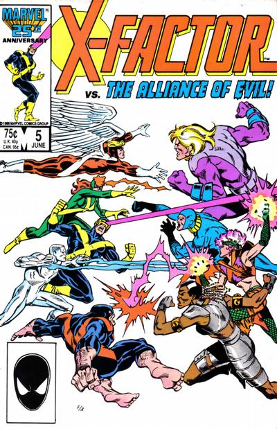 Cover for X-Factor (1986 series) #5 [Direct Edition]