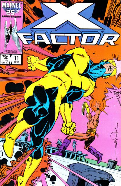 Cover for X-Factor (Marvel, 1986 series) #11 [Newsstand Edition]