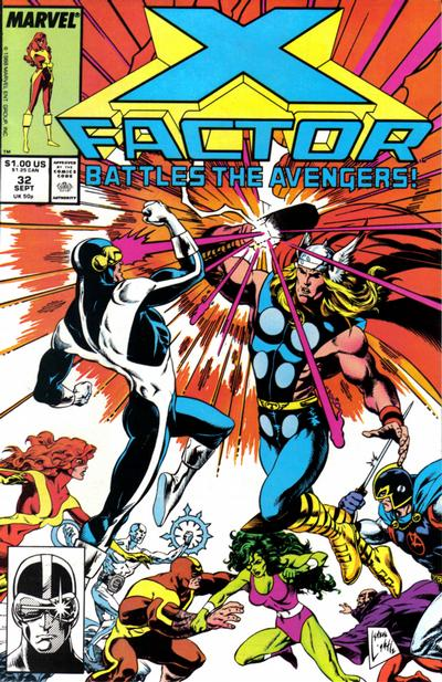 Cover for X-Factor (1986 series) #32 [Direct Edition]