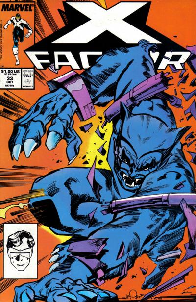 Cover for X-Factor (Marvel, 1986 series) #33 [Direct Edition]