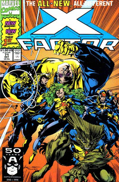 Cover for X-Factor (1986 series) #71 [Newsstand Edition]