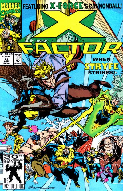 Cover for X-Factor (Marvel, 1986 series) #77 [Direct Edition]