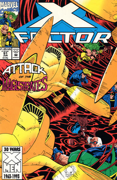Cover for X-Factor (Marvel, 1986 series) #91 [Direct Edition]