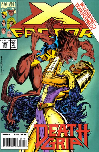 Cover for X-Factor (Marvel, 1986 series) #99 [Direct Edition]