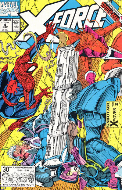 Cover for X-Force (Marvel, 1991 series) #4 [Direct Edition]