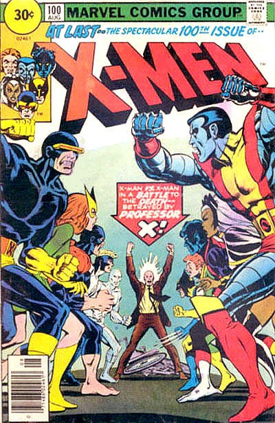 Cover for The X-Men (Marvel, 1963 series) #100 [30¢ Price Variant]