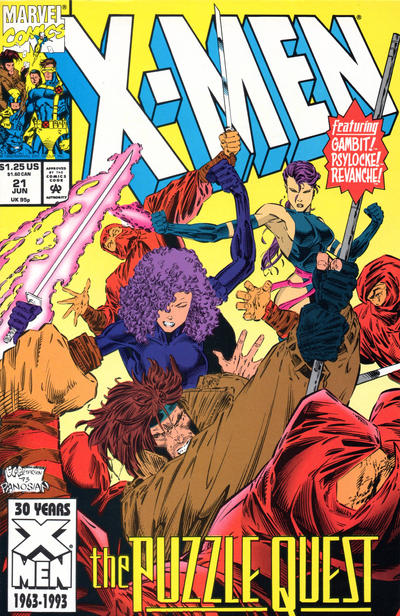 Cover for X-Men (Marvel, 1991 series) #21 [Direct Edition]