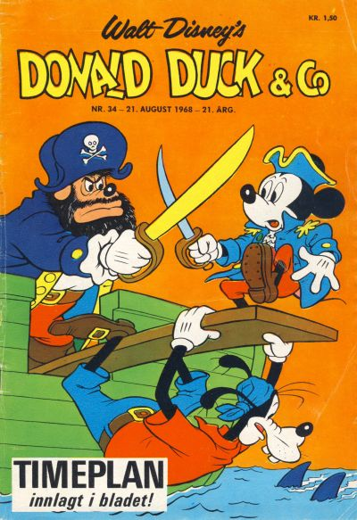 Cover for Donald Duck & Co (Hjemmet, 1948 series) #34/1968