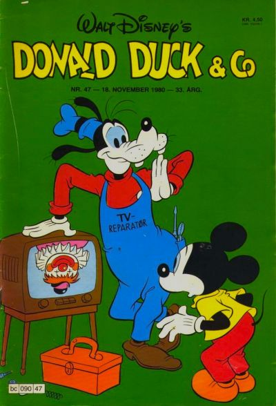 Cover for Donald Duck & Co (Hjemmet, 1948 series) #47/1980