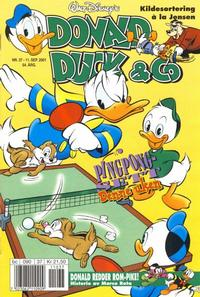 Cover for Donald Duck & Co (Hjemmet / Egmont, 1997 series) #37/2001