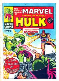 Cover Thumbnail for The Mighty World of Marvel (Marvel UK, 1972 series) #66