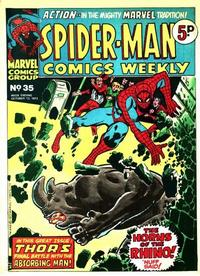 Cover Thumbnail for Spider-Man Comics Weekly (Marvel UK, 1973 series) #35