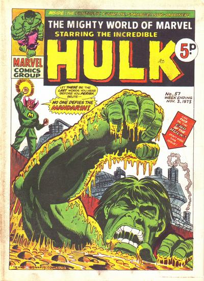 Cover for The Mighty World of Marvel (Marvel UK, 1972 series) #57