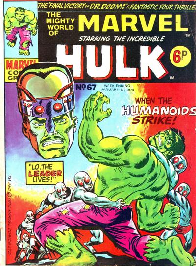 Cover for The Mighty World of Marvel (Marvel UK, 1972 series) #67