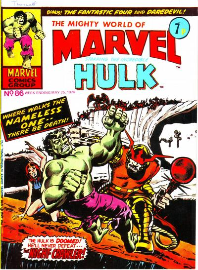 Cover for The Mighty World of Marvel (Marvel UK, 1972 series) #86