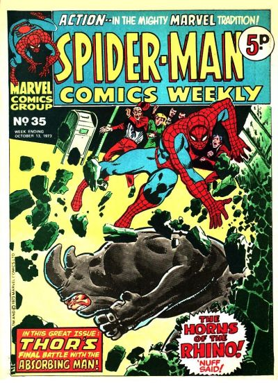 Cover for Spider-Man Comics Weekly (Marvel UK, 1973 series) #35