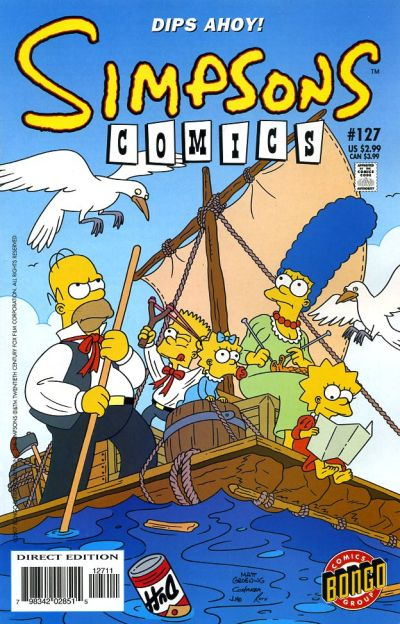 Cover for Simpsons Comics (Bongo, 1993 series) #127