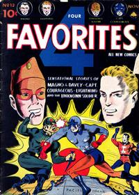 Cover for Four Favorites (Ace Magazines, 1941 series) #12