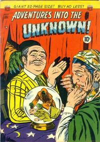 Cover for Adventures into the Unknown (American Comics Group, 1948 series) #12