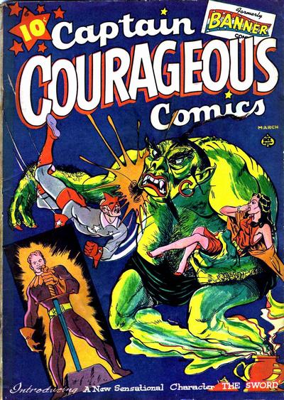 Cover for Captain Courageous Comics (Ace Magazines, 1942 series) #6