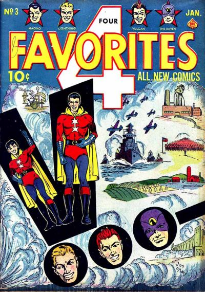 Cover for Four Favorites (Ace Magazines, 1941 series) #3