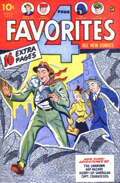 Cover for Four Favorites (Ace Magazines, 1941 series) #28