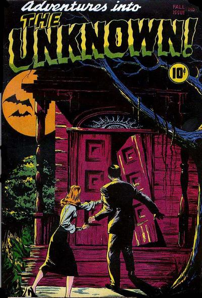 Cover for Adventures into the Unknown (American Comics Group, 1948 series) #1