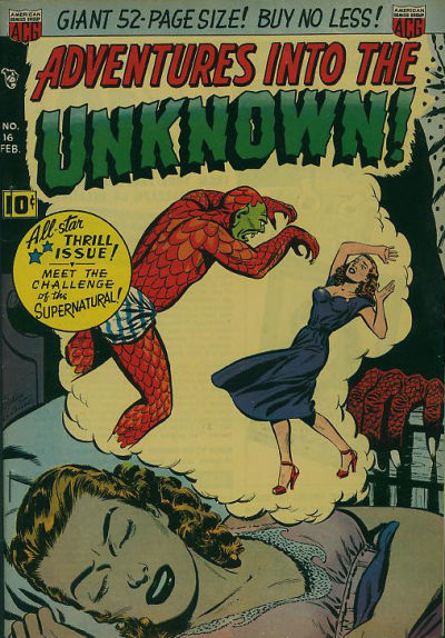 Cover for Adventures into the Unknown (American Comics Group, 1948 series) #16