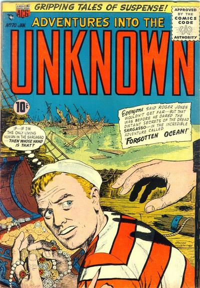 Cover for Adventures into the Unknown (American Comics Group, 1948 series) #70