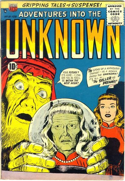 Cover for Adventures into the Unknown (American Comics Group, 1948 series) #81