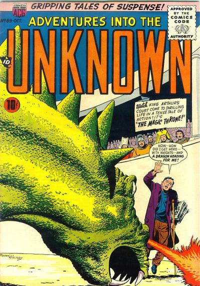 Cover for Adventures into the Unknown (1948 series) #89