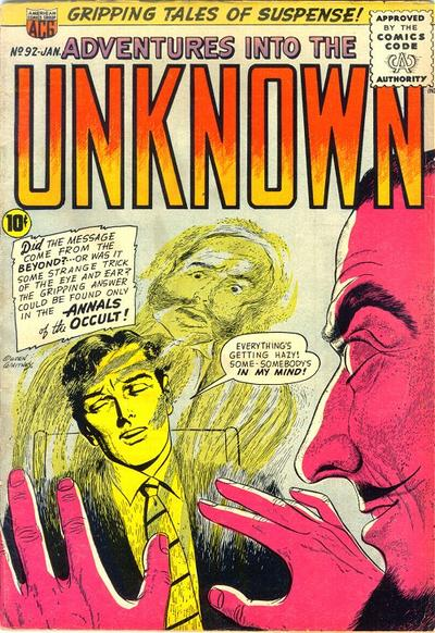 Cover for Adventures into the Unknown (American Comics Group, 1948 series) #92